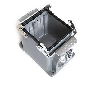 kryt zásuvky 32B sokl, montáž na povrch, kov, dva zámky