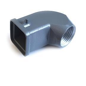 kryt kovový, úhlový vývod 3A 21x21