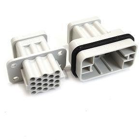 řada S-QD17 velikost  «32x13» 10A, 250V/4kV/3, 17P + PE, krimpovací kontakty
