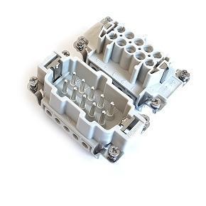 vložky konektoru 10B «57x27» 16A  500V/6kV/3, 10P + PE šroubové kontakty