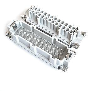 velikost 24B «104x27» 16A  500V/6kV/3, 24P + PE šroubové kontakty