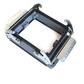 kryt zásuvky 32B do otvoru v panelu, kov, dva zámky