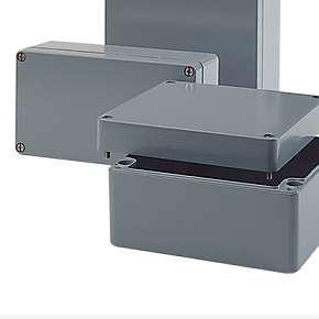 AG - hliníkové průmyslové krabice, IP66, -40°C +90°C, polyuretanové těsnění, RAL7001
