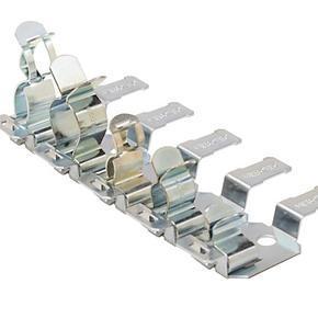 HREZ - lišta pro stínící kabelové spony - 12 pozic, přímá montáž