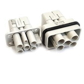 řada S-QD 4/2 velikost  «32x13» 4x40A + 2 x10A, 250V + PE, krimpovací kontakty