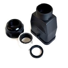 kryt vložky S-QD 32x13, přímý, s kabelovou vývodkou, termoplast, jeden zámek